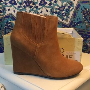 NWT Restricted Wedge Bootie
